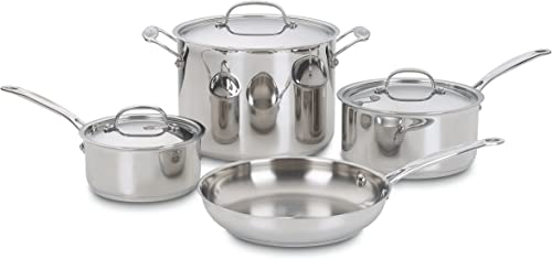 2021 Cuisinart 77-7 Chef's outlet online sale popular Classic Stainless 7-Piece Cookware Set,Silver online sale