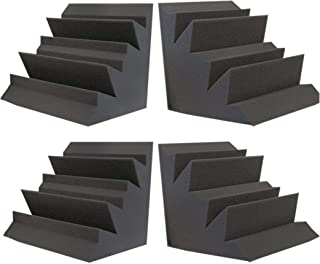 "Foamily Acoustic Foam XL Bass Trap Studio Soundproofing Corner Wall 12"" X 12"" X 12"" (4 PACK)"