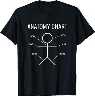Stick Figure Anatomy Chart Funny T-Shirt