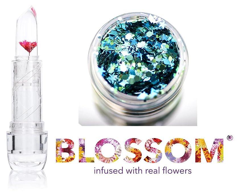 置くためにパック情熱新聞Blossom (ボーナススキン/ヘアーグリッター付き)実花を注入されたクリスタルリップバーム、(赤い花)