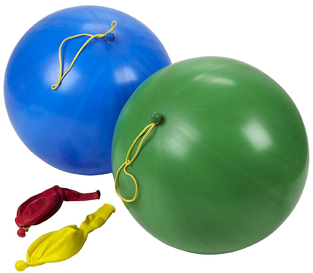 amscan Punch Latex Balloons - 4 ct