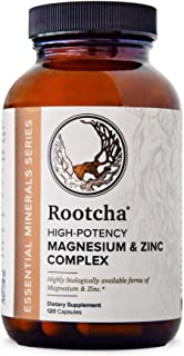 Rootcha High Potency Magnesium Zinc Complex – Sleep, Recovery, & Immune Support (120ct)