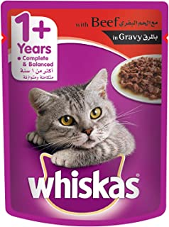Whiskas Beef in Gravy Cat Food, 85 gm