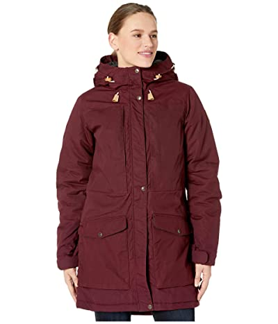 Fjallraven Singi Wool Padded Parka (Dark Garnet) Women