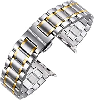 Autulet Band For Apple Watch Band 38mm 40mm 42mm 44mm Stailess Steel Strap For Apple Watch Series 4/3/2/1