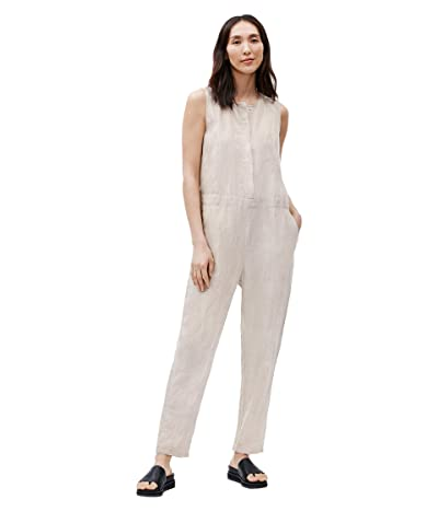 Eileen Fisher Round Neck Ankle Length Jumpsuit (Unnatural) Women