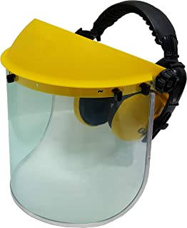 Jasper Browguard Face Shield Clear Visor with Ear Muffs - ANSI Z87.1 CE EN1731