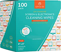 """Screen & Electronic Cleaning Wipes, 100 Pre-Moistened Individual Wrapped (6"""" x 6"""") TV Screen Cleaner, Computer Monitor, Laptop, Lens Wipes, Monitor"""