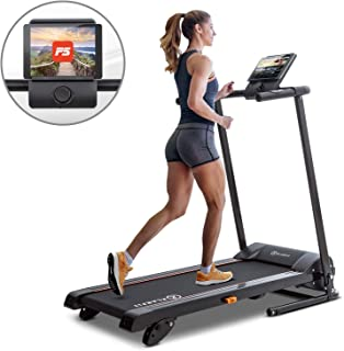 Klarfit Treado Advanced 2.0 Black Edition - Cinta para correr, Máquina de cardio, Ordenador de entrenamiento, Soporte tabletas, Potencia 1 PS, Pulsómetro, Sistema autolubrificante, Bluetooth, Negro