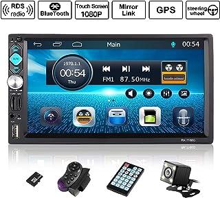 comprar comparacion Autoradio 2 DIN Reproductor Mp5 de Coche 7 Pulgadas 1080P FHD Pantalla Táctil Bluetooth GPS Radio FM Mirror Link Carga Ráp...