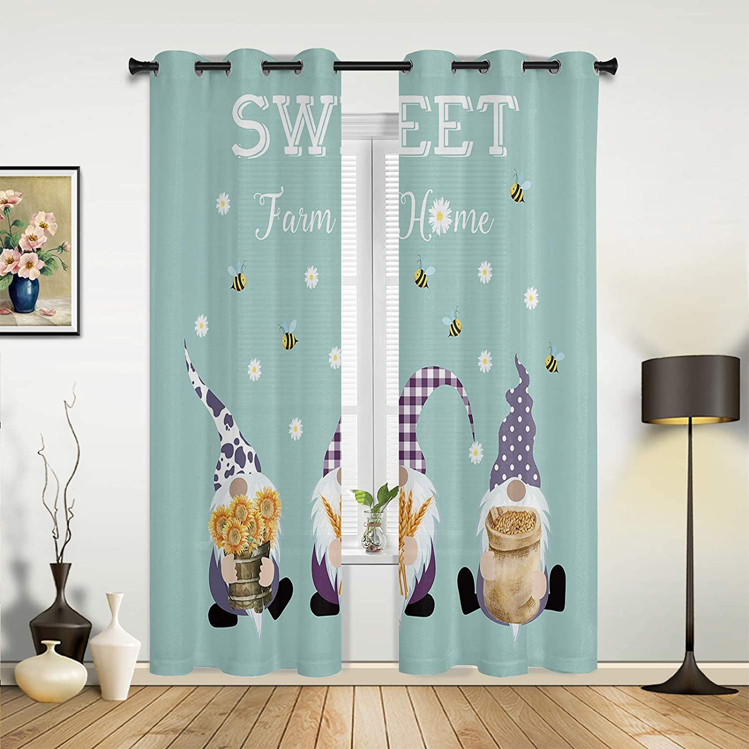 Beauty Decor Window Limited time trial price Fashionable Sheer Curtains Bedroom for Sweet Room Living