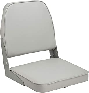 Attwood Folding Boat Seat - Low-Back Padded, High-Impact Plastic Frame