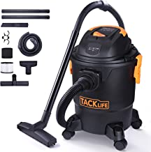Wet Dry Vacuum, TACKLIFE 5 Gallon 5.5 Peak Hp 3 in 1 Shop Vac Wet/Dry/Blow, Pulley System, 4-Layer Filtration, Couch Suction, Crevice Tool, Floor Brush