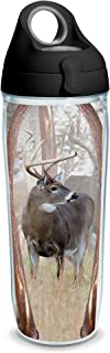 Tervis 1230845 Deer Trio Tumbler with Wrap and Black with Gray Lid 24oz Water Bottle, Clear