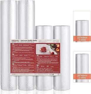comprar comparacion YISSVIC Rollos de Envasado al Vacío 4 Rollos 20x 500cm 28x 500cm Bolsas de Vacío para Conservación de Alimentos para Varia...