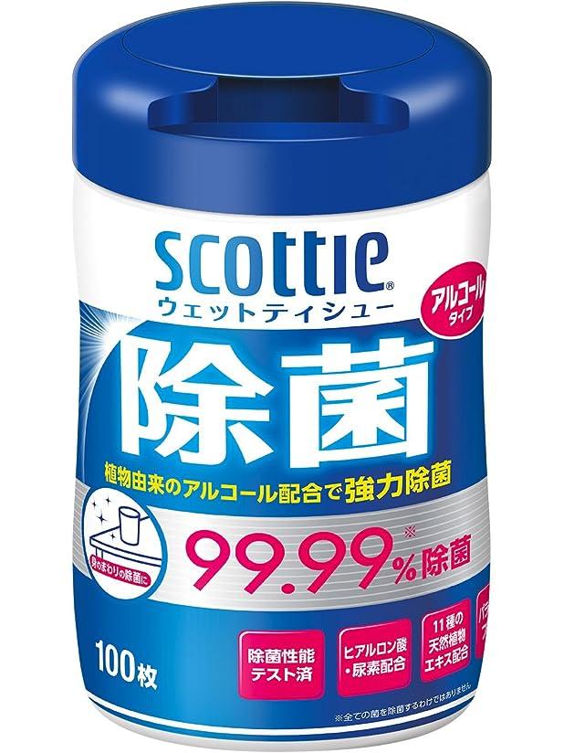 静的根絶する暴力スコッティ ウェットティシュー 除菌 アルコールタイプ 本体 100枚
