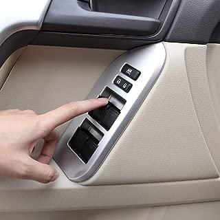 ABS Plastic Door Window Switch Cover Interior Armrest Panel Trims Car Accessories Matte Silver for LHD Toyota Land Cruiser Prado FJ150 150 2010-2018 left hand driver