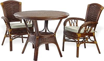Amazon.com: Borneo Compact Juego de mesa de comedor con ...