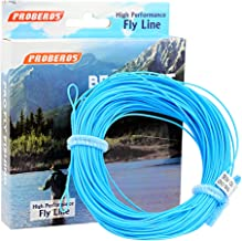 Proberos Fly Line with Weight Forward Enhanced Welded Loop Floating PE Fly Fishing Lines Multiple Colors WF 2F-8F