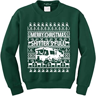 NuffSaid Shitters Full Ugly Christmas Vacation Crewneck Sweater - Unisex Crew