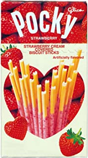 Strawberry Cream Flavor Pocky Stick Snack - Heart Shaped Stick Edition (Japanese Import) [NA-ICNI]