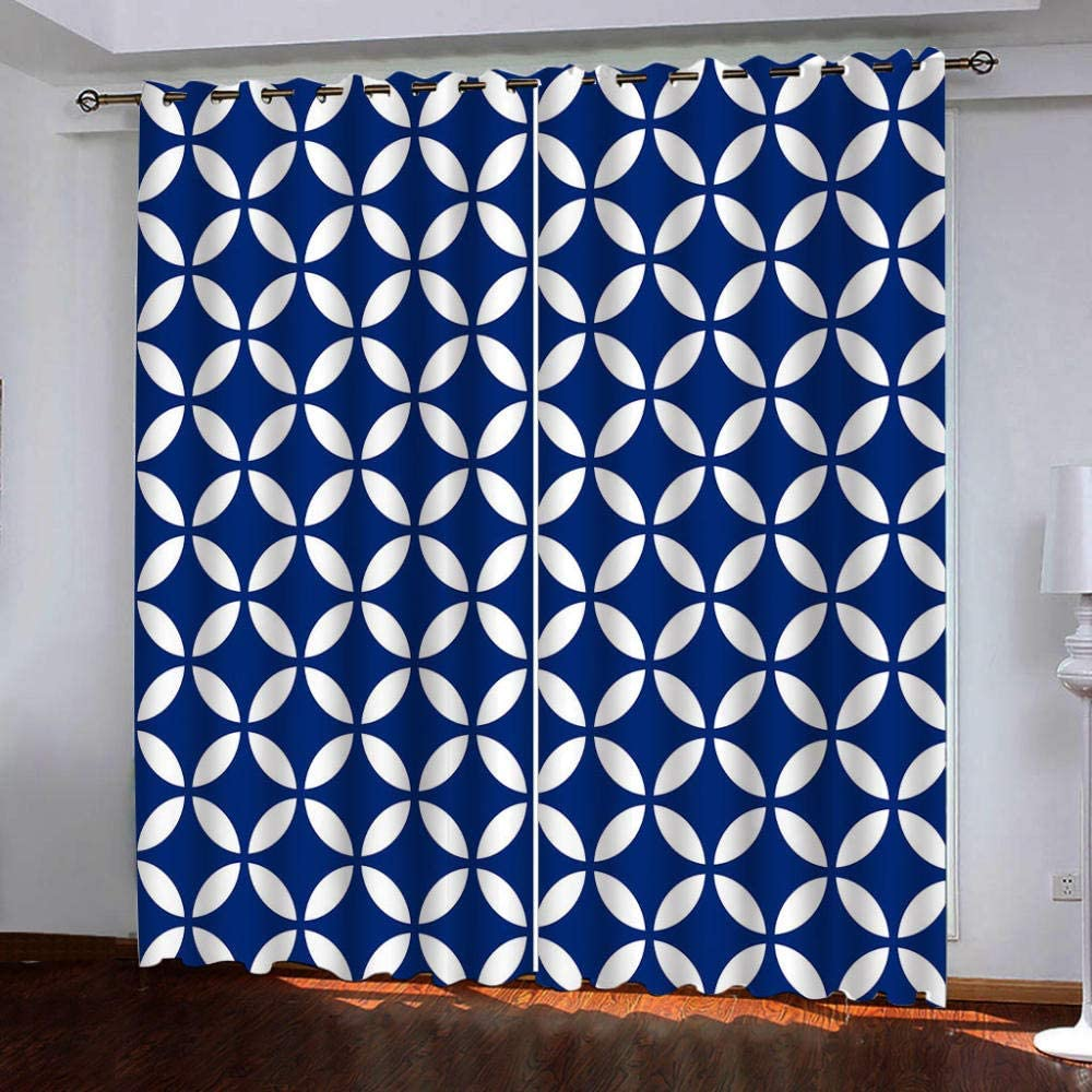 Blackout Window Curtain Ranking TOP2 Panels Blue Pattern for and Therm White New product! New type