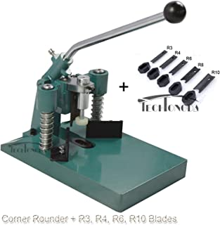 INTBUYING All Metal Heavy Steel R6 R10 Corner Rounder Punch Cutter Stack Paper Alumium+ R3 R4 R8 Blades
