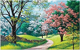 DIY Puzzles Education Toy 1000 Piece Jigsaws Landscape Large Puzzle for Adults & Children,Every Piece is Unique (Spring time)