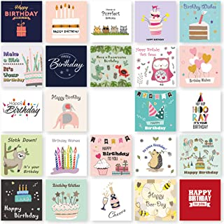 Birthday Cards Multipack of 24. Each Birthday Card box includes 24 Mixed Happy Birthday Card Designs. Blank Inside. Bulk B...