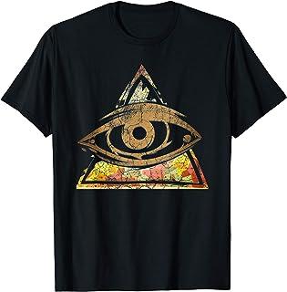 Illuminati Horus Eye Ankh Géométrie sacrée égyptienne Egypte T-Shirt