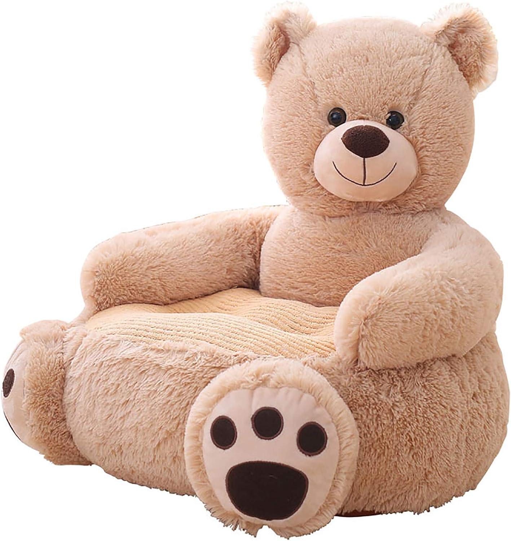 45CM Kids Baby Sofa Bear Support Seat Learning Sitting for Soft Chair Cushion Feeding Pillows Plush Gift for Christmas Birthday,A,50 50 YLME Cartoons Small Sofa Chair
