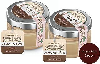 Vegan Almond Pâté (Pate) 2 pack of 3 oz jar - Original - Gourmet, Vegan, Ketogenic, Spread