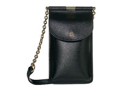 LAUREN Ralph Lauren Phone Bag Crossbody Mini (Black 1) Cross Body Handbags