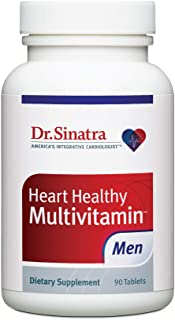 Sponsored Ad - Dr. Sinatra's Heart Healthy Multivitamin for Men with Vitamin D 1000 IU, A, B12, C, E, and Zinc, 90 Tablets...