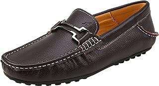 Shenduo Zapatos Primavera - Mocasines de Cuero Suave con Suela Goma cómodos para Hombre D7167