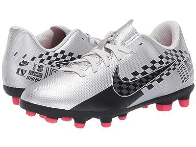 Nike Kids Jr Vapor 13 Club NJR FG/MG Soccer (Little Kid/Big Kid) (Chrome/Black/Red Orbit/Platinum Tint) Kids Shoes