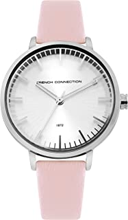 French Connection Womens Analogue Classic Quartz Watch with Leather Strap FC1324P