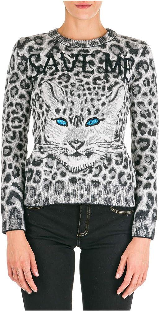 Alberta ferretti love me wild, maglione,pullover per donna, 100% lana vergine J092851071516