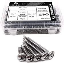 410 Stainless #10 x 3//4 Wafer Head Philips Self Drilling Sheet Metal Tek Screws #10 x 3//4 Inch Modified Truss Head Self Driller 1//2 to 1 Length in Listing 100 pieces