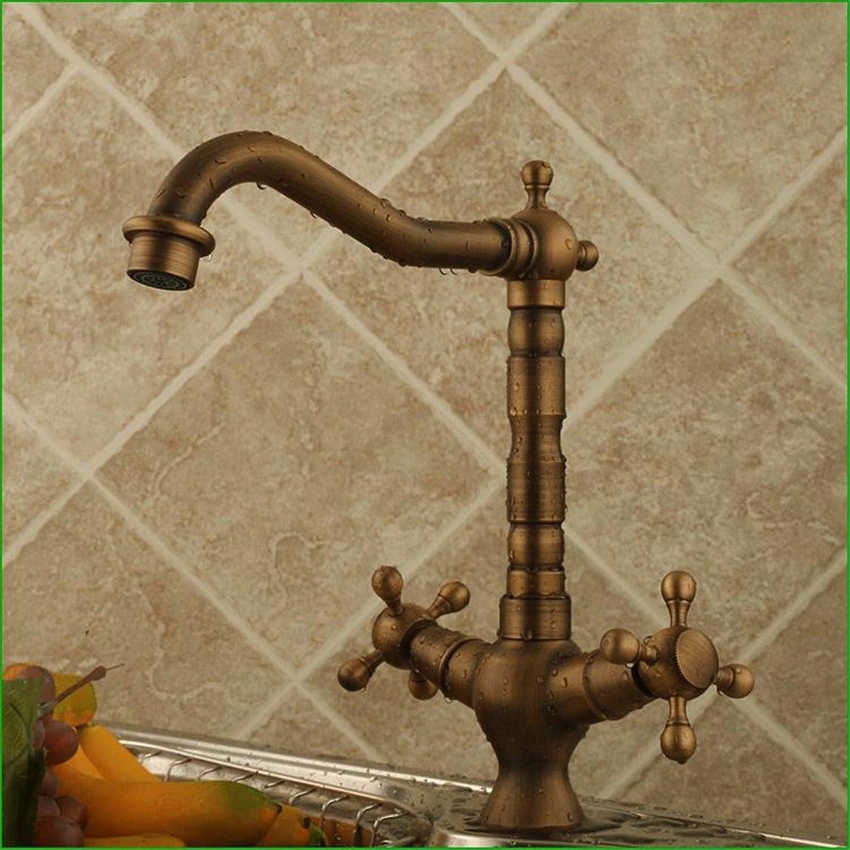 Bijjaladeva Wasserhahn Bad Wasserfall Mischbatterie Waschbecken WaschtischAntik Messing-Spüle Armaturen knnen die Phillips Rad heie und Kalte Waschbecken Mixer Drehen