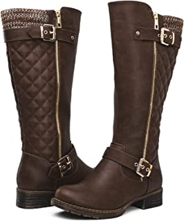 Women's Quilted Knee-High Fashion Boots
