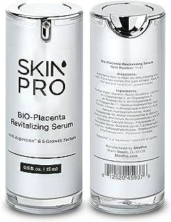 Best SkinPro BIO-Placenta Revitalizing Serum (Medical Grade) with Epidermal Growth Factor & Argireline for Anti Aging Review
