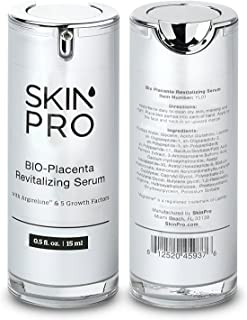 SkinPro BIO-Placenta Revitalizing Serum (Medical Grade) with Epidermal Growth Factor & Argireline for Anti Aging