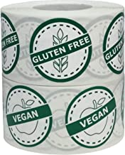 Vegan and Gluten Free Food Rotation Labels Value Pack 1 1/4 Inch Round Circle Dots 1,000 Adhesive Stickers