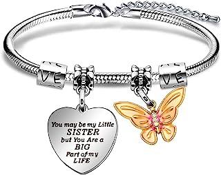 Sterling Silver Artisan Link Sisters Jewelry Leather Bracelet Sisters Gifts Mystic Gemstones Sisters Bracelet Artisan Heart Love Charm