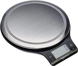 مقیاس آشپزخانه دیجیتال فولاد ضد زنگ AmazonBasics با صفحه نمایش LCD ، باتری ها شامل می شوند
