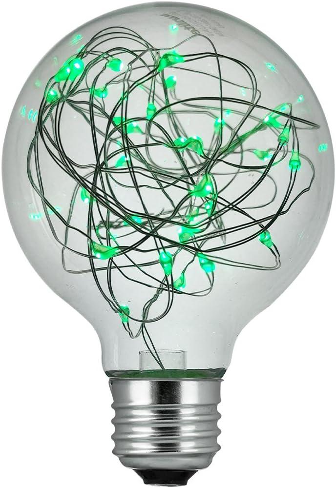 6 Pack Sunlite 41020-SU LED G30 Globe Fairy Bulb String-Light Decorative Lightbulb Green