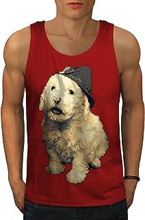 Wellcoda 子犬 可愛い 毛皮のような おもしろいです 男性用 S-2XL タンクトップ