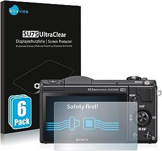 savvies Protector Pantalla Compatible con Sony Alpha 5100 (DSLR-A5100) (6 Unidades) Pelicula Ultra Transparente