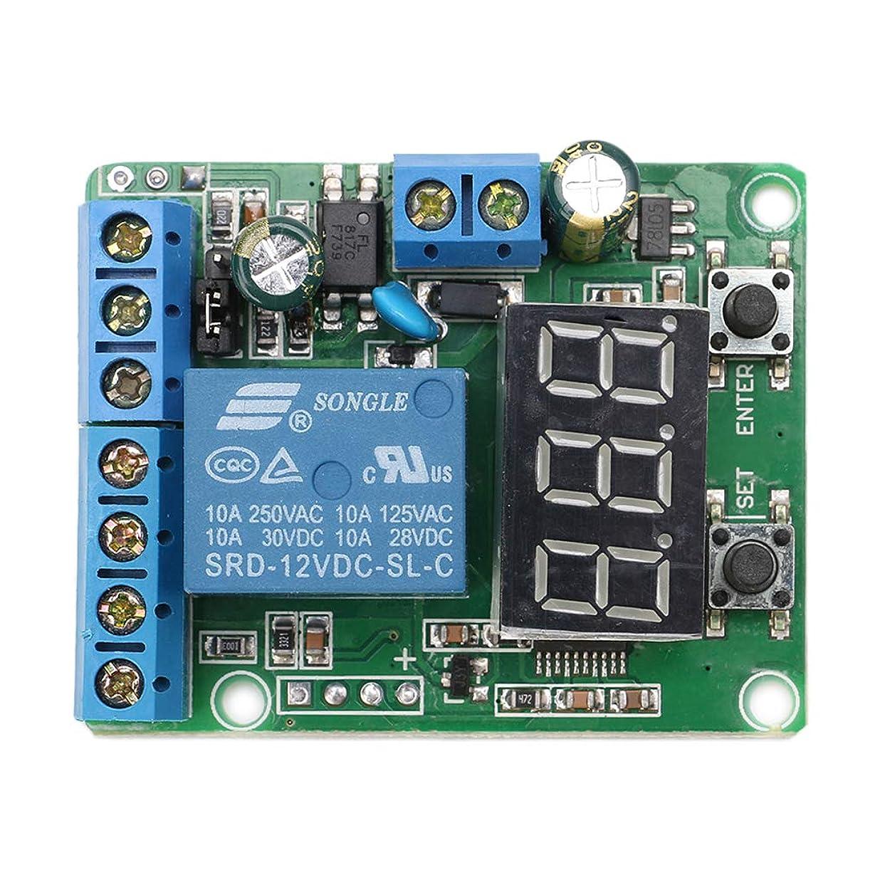 コードスポーツ準備したDCリレーモジュールコントロールボード12Vスイッチ負荷電圧検出テストモニター